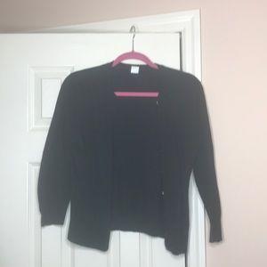 j crew medium black cardigan